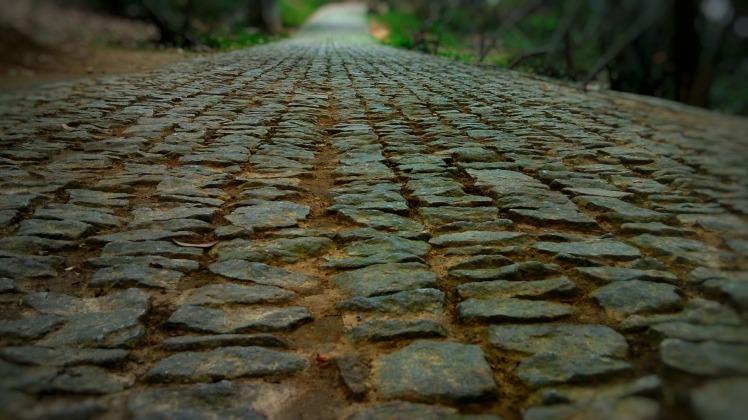 pebbled lane