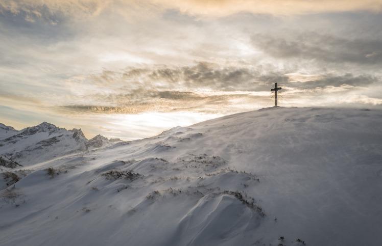 snowy cross